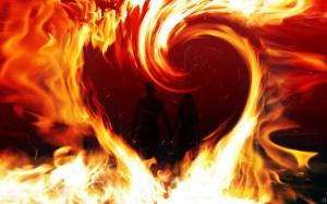 Огненное сердечко