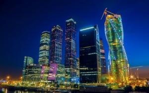 Москва Сити ночью