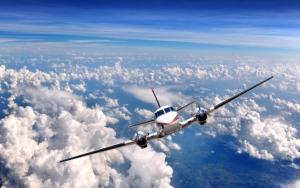 Пропеллерный самолет
