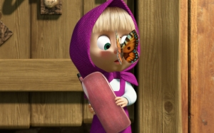 Маша вместе с бабочкой