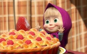 Маша и Медведь вкусный пирог
