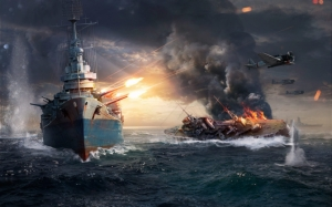 World of Warships морской бой