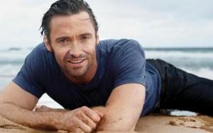 Хью Джекман на пляже