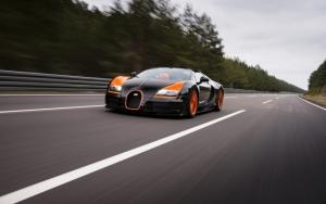 Bugatti Veyron рекорд скорости