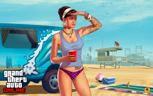 Grand Theft Auto V на пляже