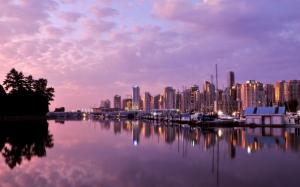 Закат в Ванкувере Канада