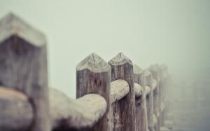 Забор из бревен