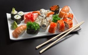 Красивая подача суши