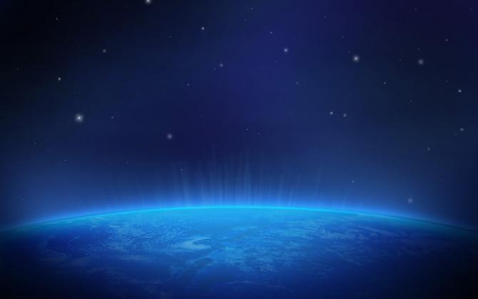 Сияние на поверхности Земли