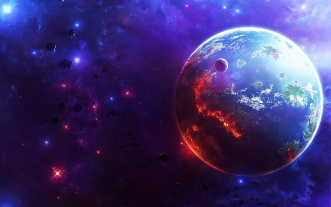 Пожар на планете