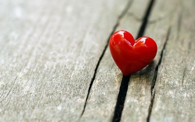 Красное сердечко