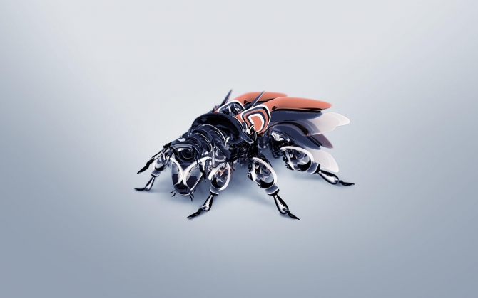3d кибер пчела