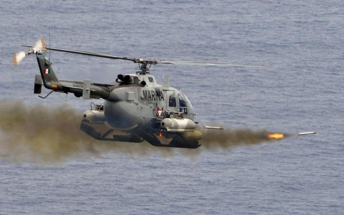 Ракетная атака с военного вертолета