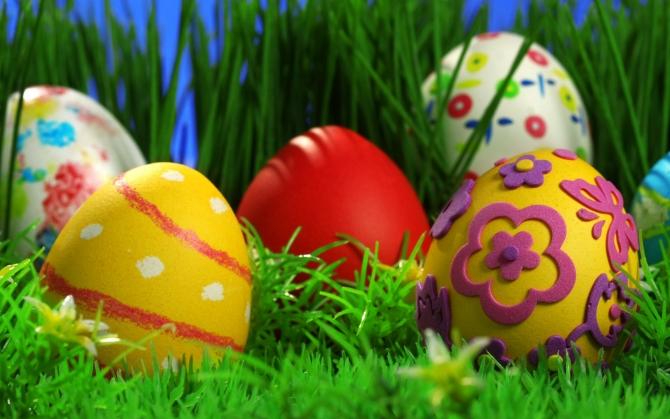 Расписанные яйца на Пасху