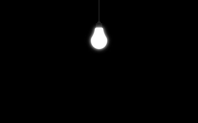 Черно-белая лампочка