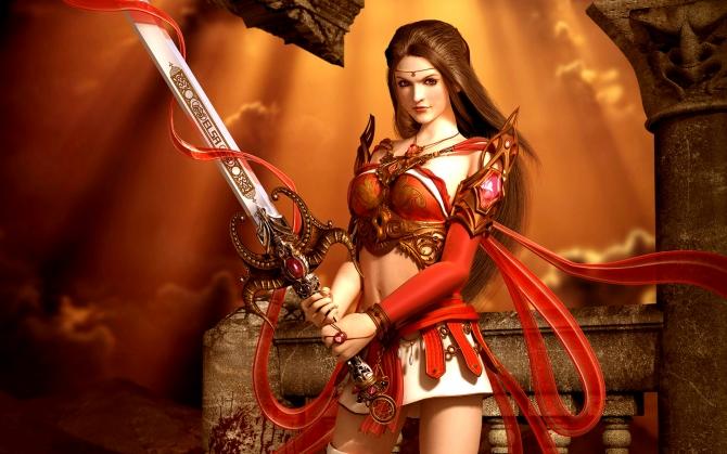 Воительница с мечом