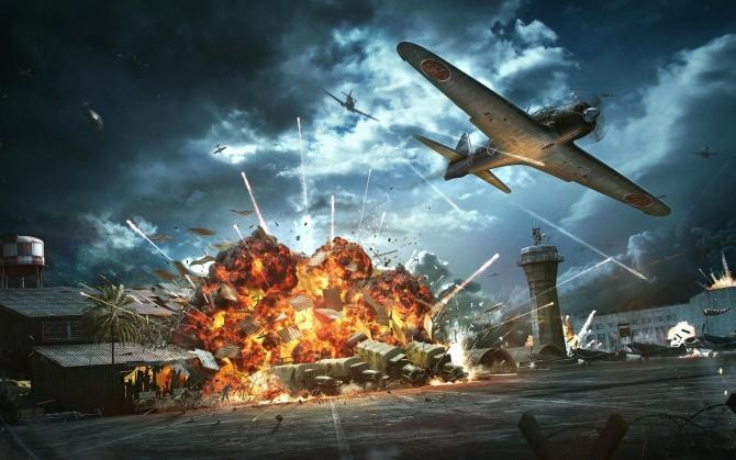 World of Warplanes взрыв