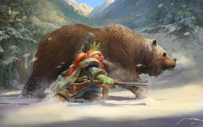 Гном с медведем