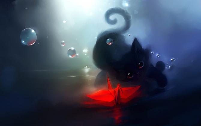 Фэнтези котенок