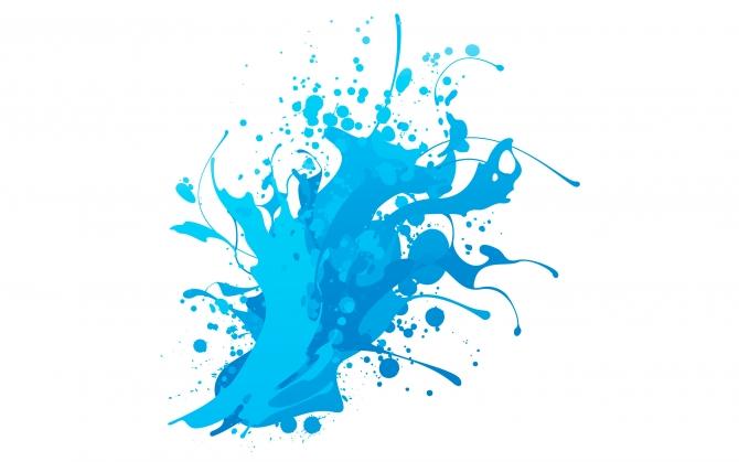 Голубая клякса