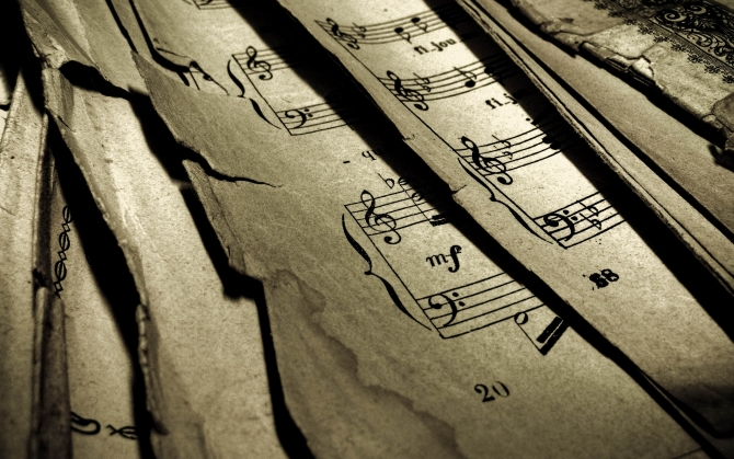 Старые нотные листы