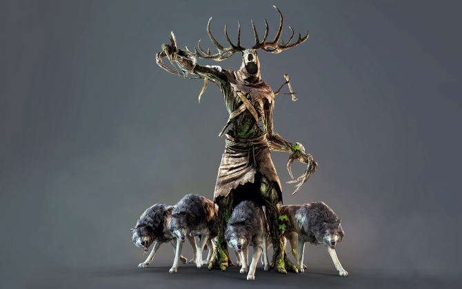 The Witcher 3 Леший с волками