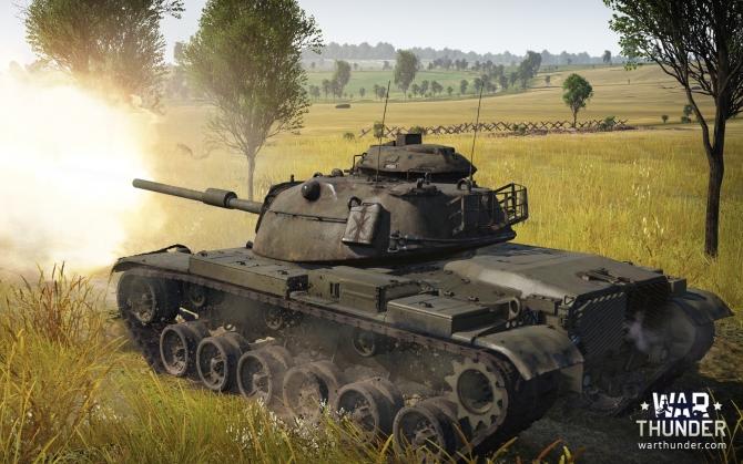 War Thunder стреляющий танк