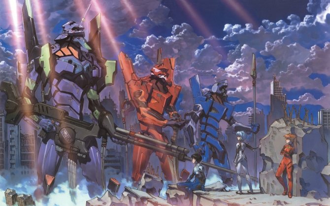 Евы и пилоты из аниме Евангелион
