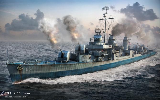 Эсминец USS Kidd DD-661