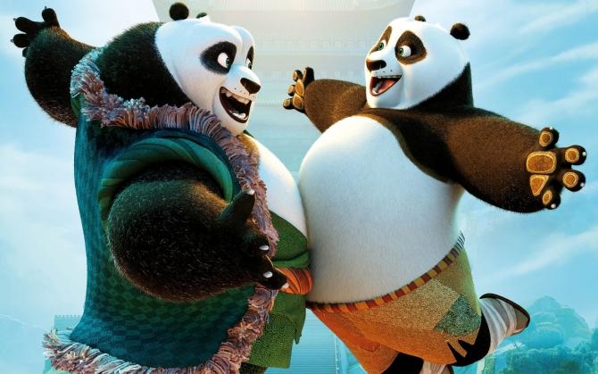 Панда По с отцом