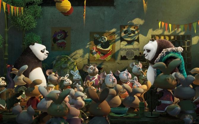 Панда По и Ли Шань