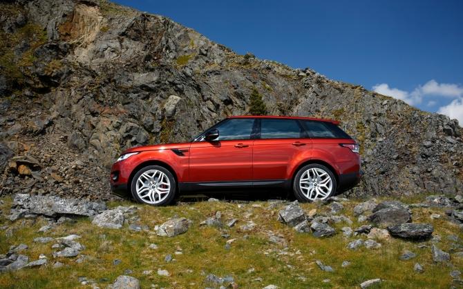 Range Rover Sport в горах
