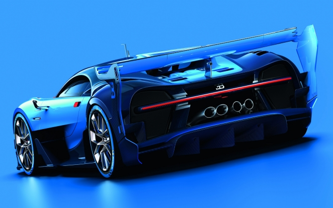 Bugatti Chiron вид сзади