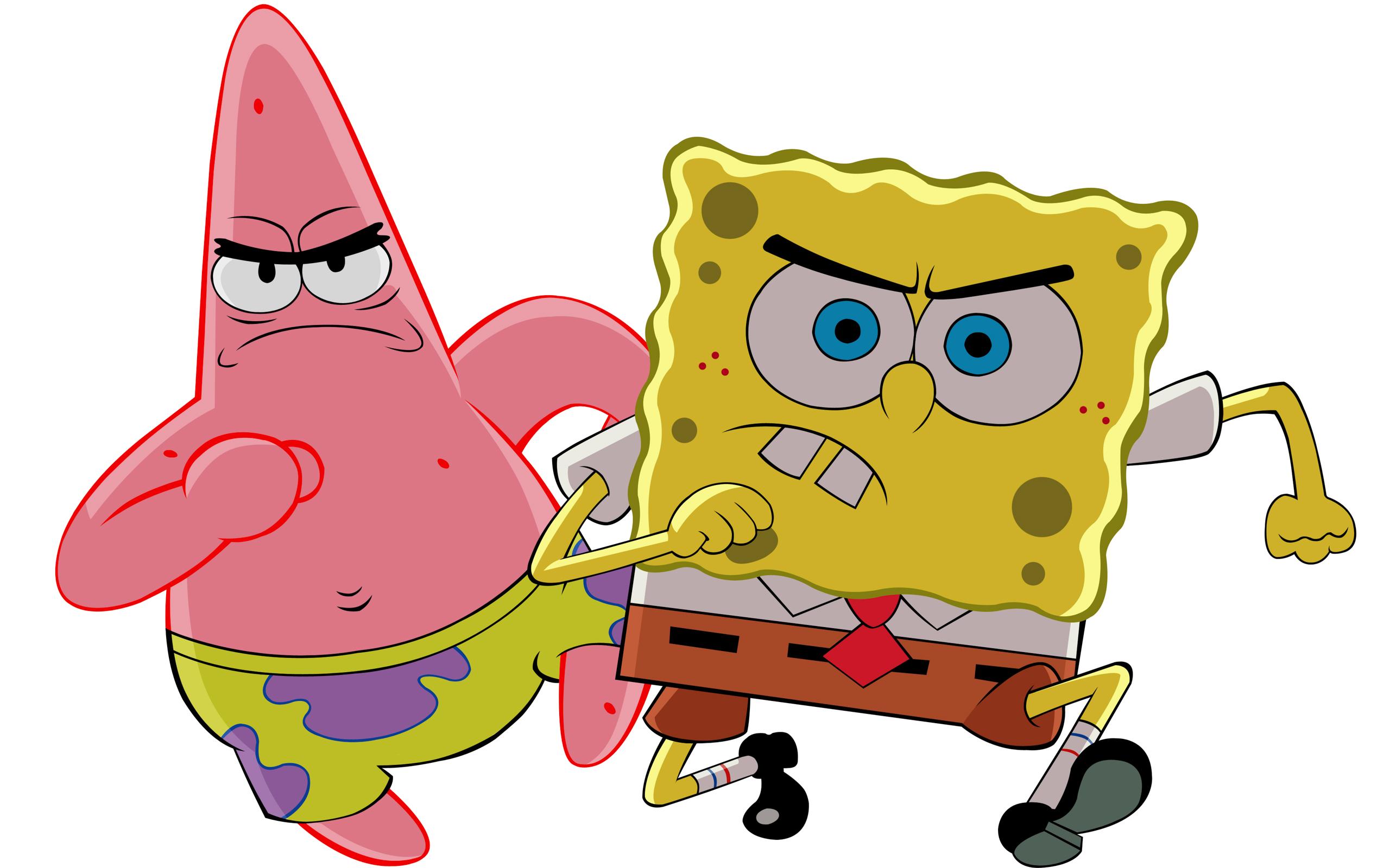 Патрик Стар и Губка Боб обои для рабочего стола, картинки ...