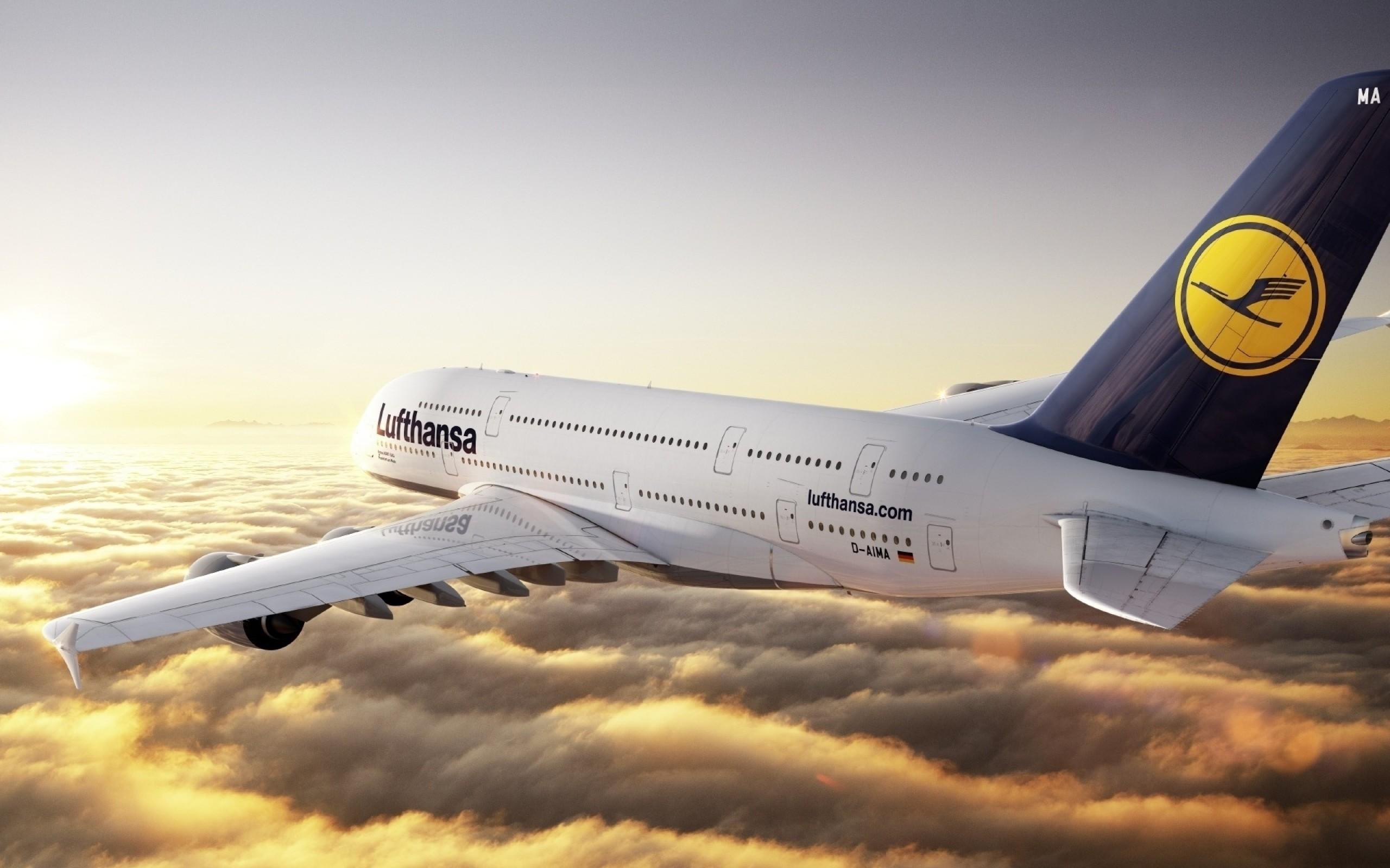 Обои Lufthansa. Авиация foto 9