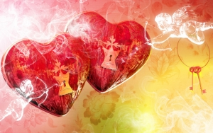 Два сердца День святого Валентина