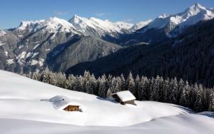 Зимой в горах