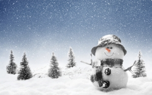 Снеговик и снегопад