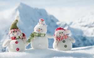 Снеговики зимой