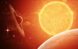Сатурн и солнце
