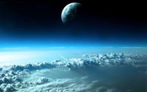 Сплошная облачность вид из космоса