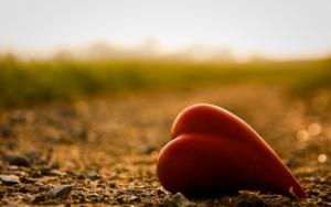 Сердечко на земле