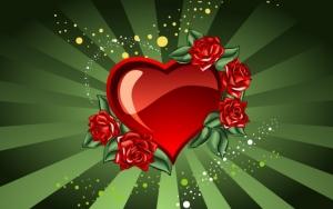 Сердечко с цветами