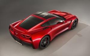 Красный Corvette Stingray