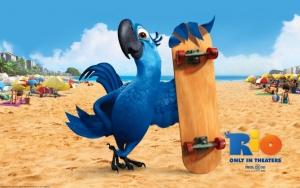 Голубчик со скейтом