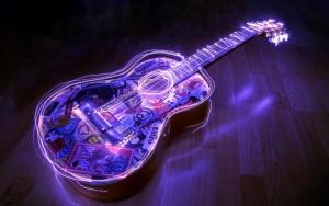 Красивая гитара