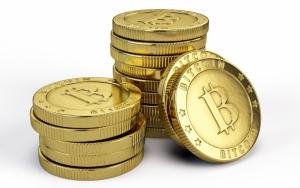 Золотые монеты Bitcoin