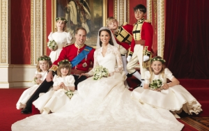 Кейт Миддлтон и принц Уильям свадебное фото