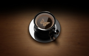 Кофе с рисунком