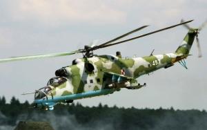 Военный вертолет Ми-24